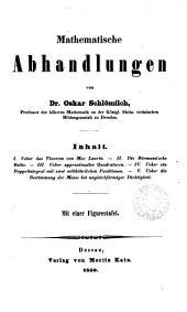 Mathematische Abhandlungen