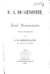 P. A. de Génestet: eene bloemlezing