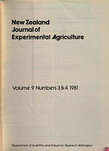 New Zealand Journal of Crop and Horticultural Science Experimental Agriculture PDF