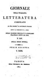 Giornale dell'Italiana letteratura: Volume 54