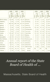 Annual Report of the State Board of Health of Massachusetts: Volume 30
