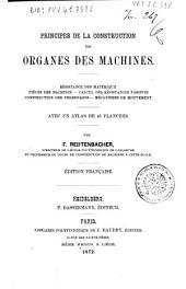 Principes de la construction des organes des machines: resistance des materiaux pieces des machines ...