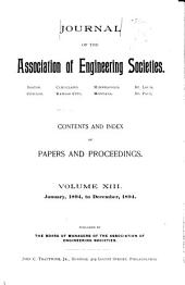 Journal of the Association of Engineering Societies: Volume 13