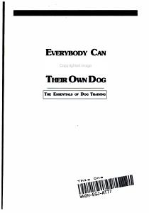 Everybody Can Train Their Own Dog PDF