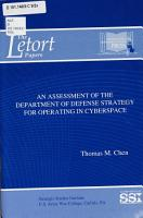 An Assessment of the Department of Defense Strategy for Operating in Cyberspace PDF