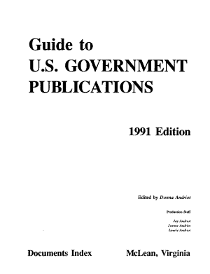 Guide to U S  Government Publications PDF