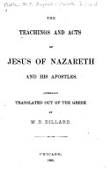 The Teachings and Acts of Jesus of Nazareth and His Apostles PDF
