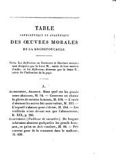 Oeuvres morales de La Rochefoucauld
