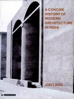 A Concise History of Modern Architecture in India PDF