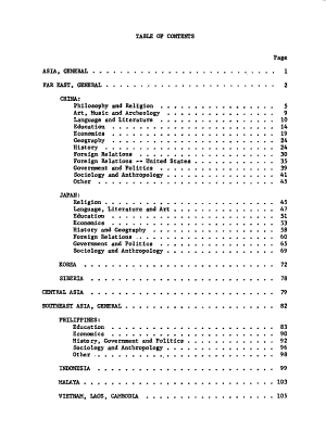 American Doctoral Dissertations on Asia  1933 1962 PDF