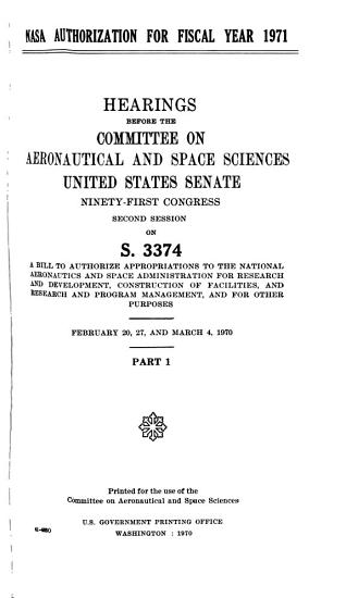 Hearings  Reports and Prints of the Senate Committee on Aeronautical and Space Sciences PDF