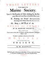 Three Letters on the Subject of the Marine Society PDF