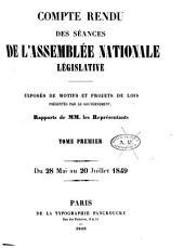 Compte rendu des séances: ... Exposés de motifs et projets de lois présentés par le gouvernement, Volume1