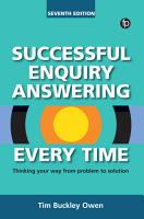 Successful Enquiry Answering Every Time  7th edition PDF