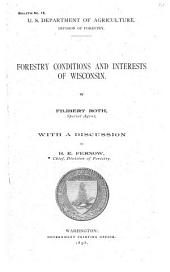Forestry Conditions and Interests of Wisconsin
