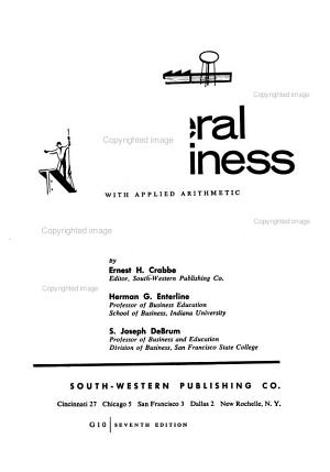 General Business with Applied Arithmetic