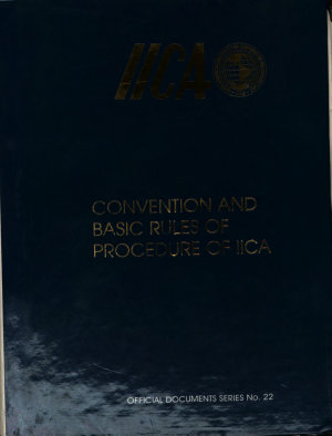 Convention and Basic Rules of Procedure of Iica