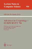 Advances in Cryptology - EUROCRYPT '94