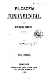 Filosofía fundamental: Volúmenes 1-2