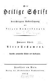 Die Heilige Schrift: Altes Testament. Poetisch-prophetische Bücher und Apokryphen, Teil 2