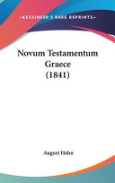 Novum Testamentum Graece Book PDF
