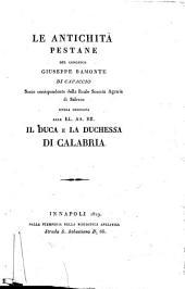 Le antichità pestane del canonico Giuseppe Bamonte di Capaccio socio corrispondente della Reale Società Agraria di Salerno