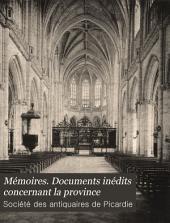 Mémoires. Documents inédits concernant la province: Volume 10
