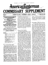 American Lumberman: Commissary supplement, Volumes 9-10