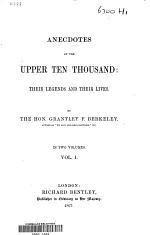 Anecdotes of the Upper Ten Thousand
