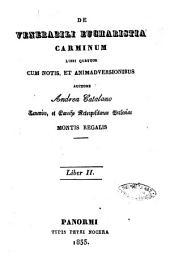 De venerabili eucharistia carminum libri quatuor cum notis et animadversionibus auctore Andrea Catalano: Liber 2, Volume 2