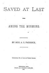 Saved at Last from Among the Mormons PDF