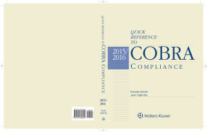 Quick Reference to Cobra Compliance 2015 2016 PDF