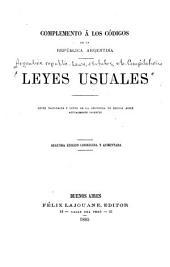 Leyes usuales: Leyes nacionales y leyes de la Provincia de Buenos Aires actualmente vigentes