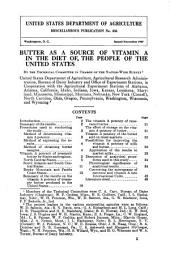 Butter as a source of vitamin A in the diet of the people of the United States