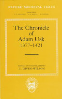 The Chronicle of Adam Usk  1377 1421