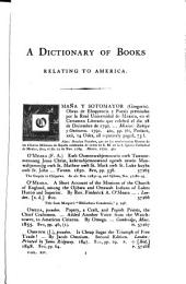 Biblioteca Americana: A Dictionary of Books Relating to America, from Its Discovery to the Present Time, Volume 14