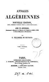 Annales algériennes: Volume1