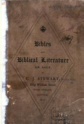 Bibles and Biblical Literature on sale by C. J. Stewart