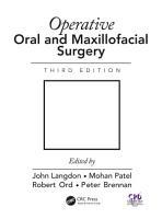 Operative Oral and Maxillofacial Surgery PDF