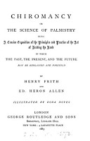 Chiromancy  or The science of palmistry  by H  Frith and E H  Allen PDF