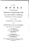 The Works of the Right Reverend Thomas Newton     The Second Edition PDF