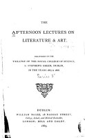 The Afternoon Lectures on Literature   Art PDF