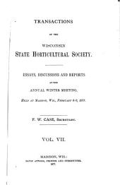 Transactions of the Wisconsin State Horticultural Society: Volume 7