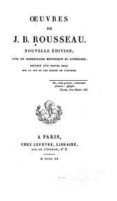 Oeuvres de J.B. Rousseau: Volume3