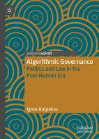 Algorithmic Governance PDF
