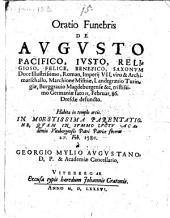 Oratio funebris de Augusto Saxonum Duce