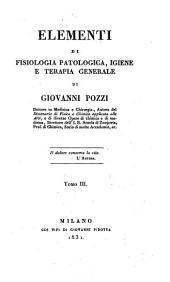 Elementi di fisiologia patologica, igiene e terapia Generale