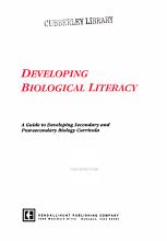 Developing Biological Literacy PDF