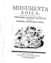 Monumenta Boica: Band 15