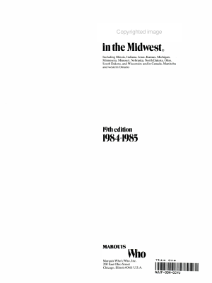 Who s Who in the Midwest  1984 1985